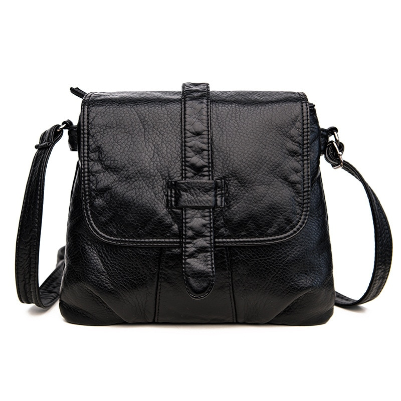2019 New Fashion Women Shoulder Bags Casual Solid PU Messenger Ladies Simple and Versatile Crossbody Bag
