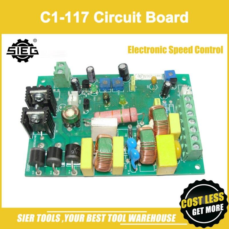 ¡Envío gratis!/C1-117 placa de circuito de Control electrónico de velocidad/accesorio SIEG C1/M1