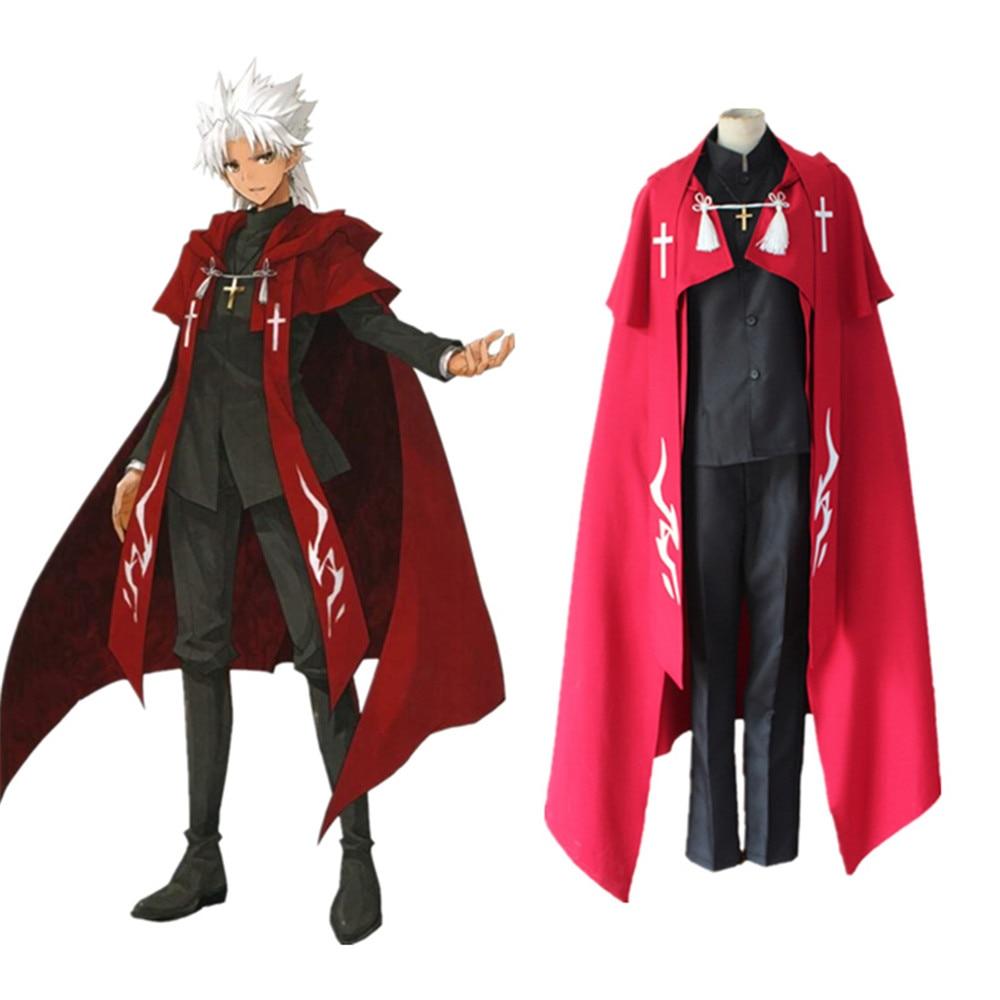 El destino/apócrifos Amakusa Shirou Tokisada Shirou Kotomine Cosplay disfraces Cosplay capa traje de Halloween