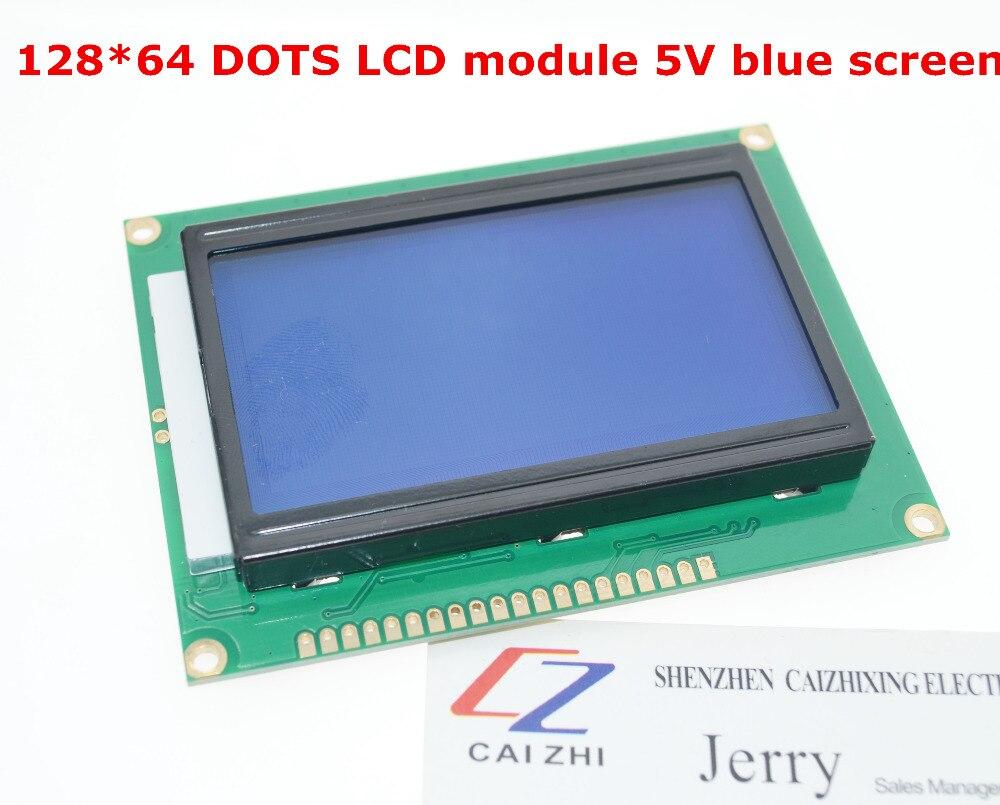 ЖК-плата 12864 LCD12864 5 V, дисплей с китайскими буквами в наличии с подсветкой 12864-5V ST7920, параллельный порт, бесплатная доставка