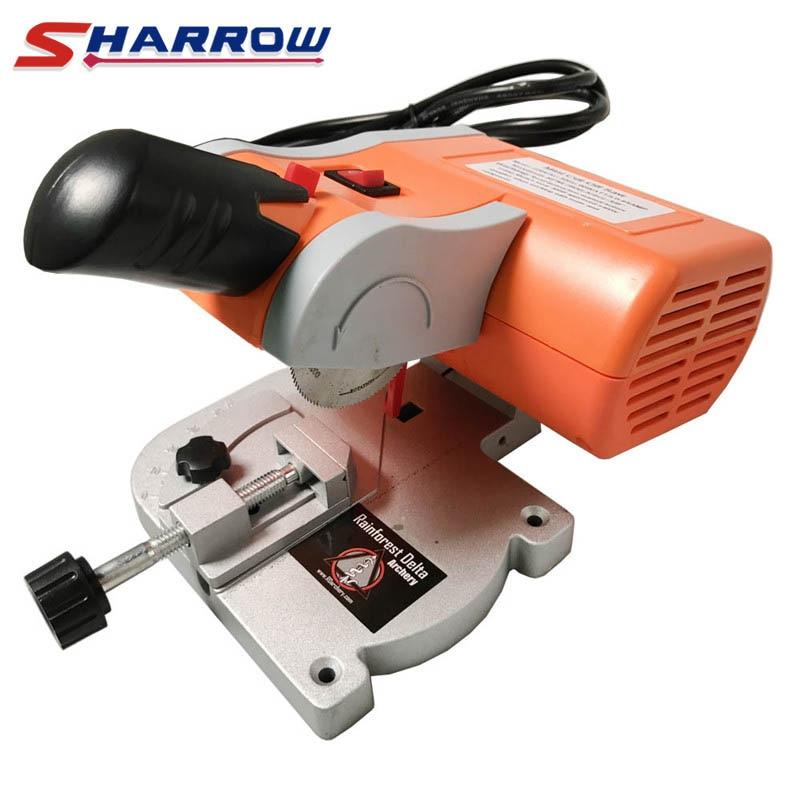 Sharrow 1 Set Electric Arrow Cutter Mini Cut off Saw DIY Cut Arrows Carbon Fiberglass Wood Bamboo Arrow Hunting Shooting