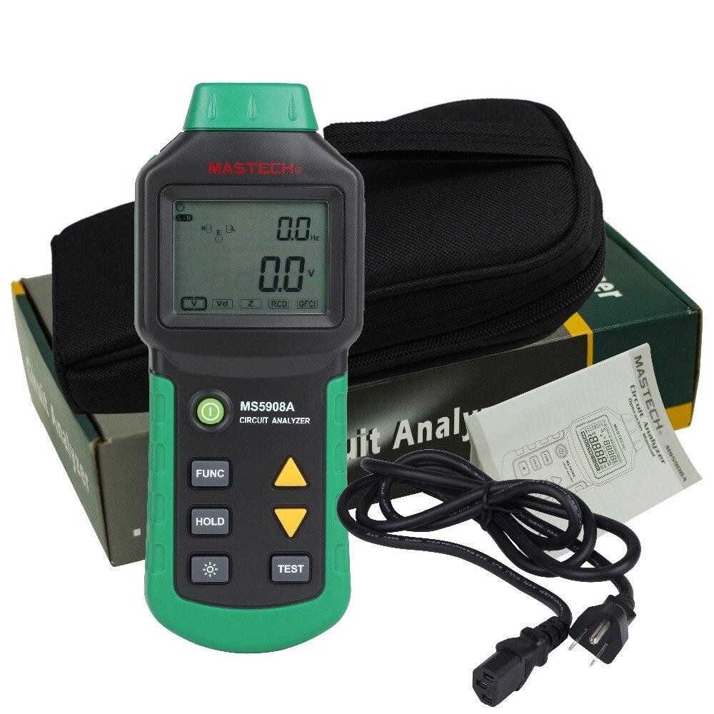 Mastech MS5908 RMS Schaltung Analysator Tester Im Vergleich w/ IDEAL Sicher Test Steckdose Tester 61-164CN 110V oder 220V