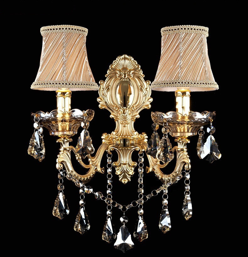 Модная Хрустальная настенная лампа, бра, светильник, свеча, настенная лампа, лестница, лампа для спальни, прикроватная лампа, зеркальный све...