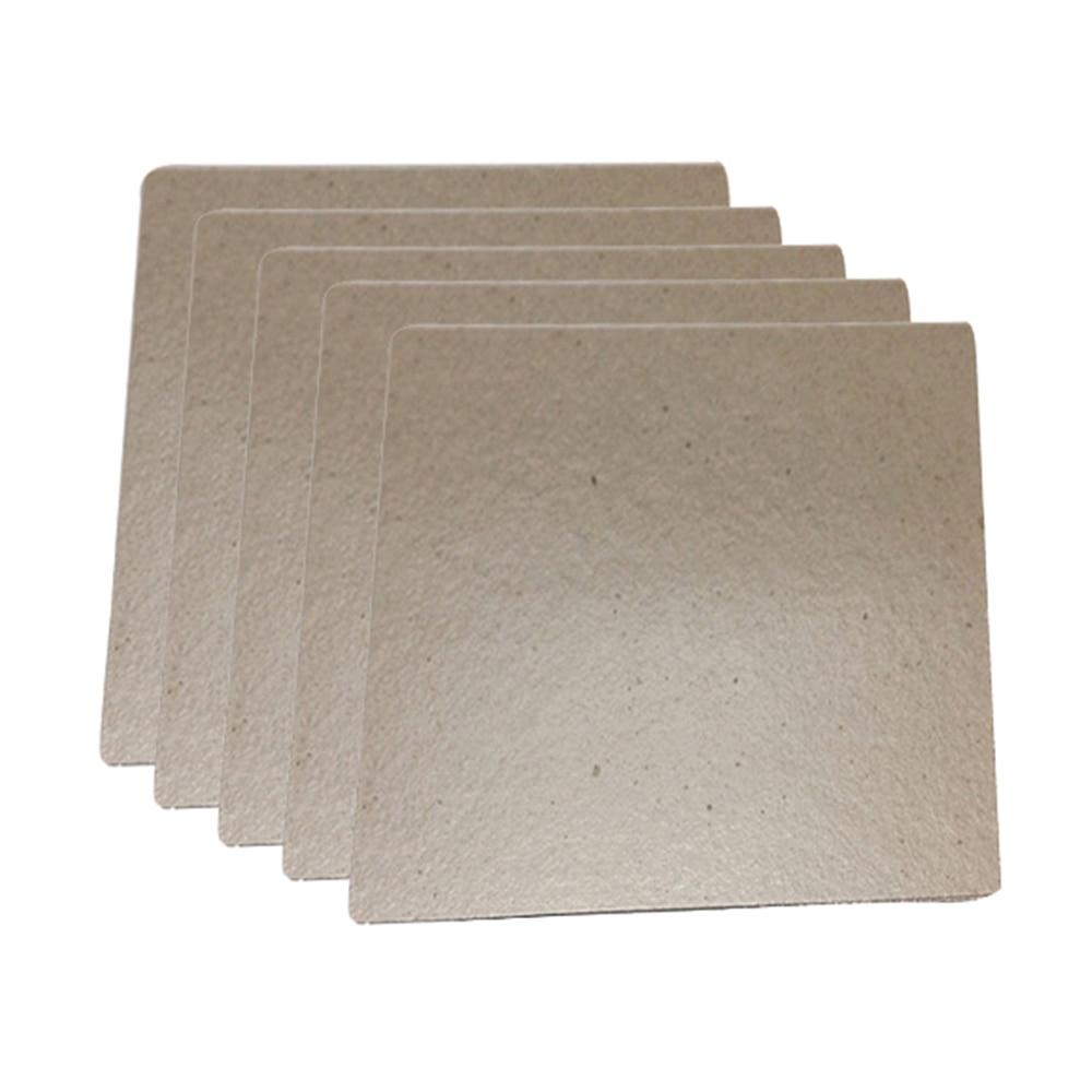 5 uds placas de Mica láminas gruesas microondas horno tostadora Mica placas láminas para Midea Universal electrodomésticos piezas