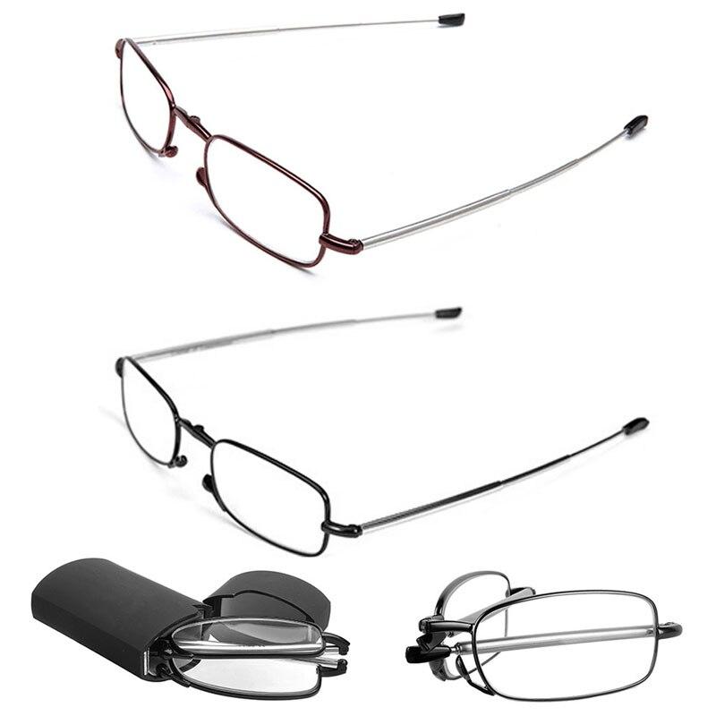 Tragbare Falten Lesebrille Rotation Mode Brillen + 1,5 + 2,0 + 2,5 + 3,0 + 3,5 + 4,0 Dropshipping