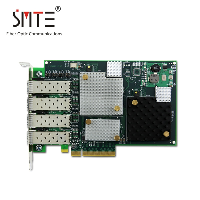 LPE12004 8 Gb/s de fibra canal PCI Express Quad Channel Host Bus Adapter 8Gb PCIe 4-Puerto de canal de fibra HBA tarjeta con 4 módulo.