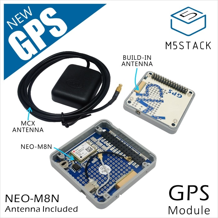 ¡M5Stack Stock oficial oferta! Módulo GPS con antena interna y externa interfaz MCX Placa de desarrollo para IoT para Arduino ESP32