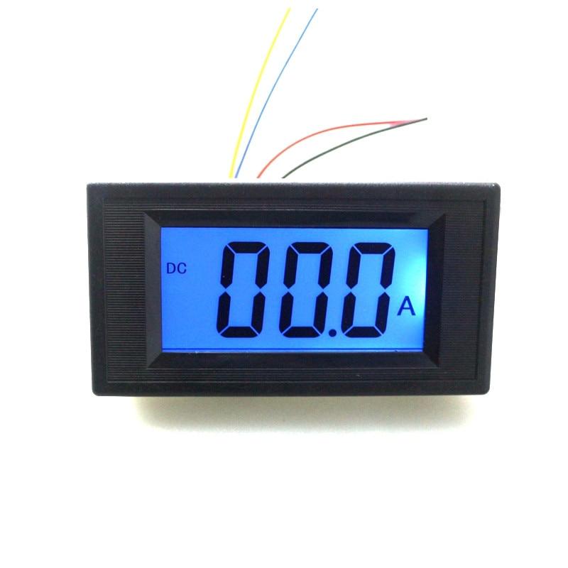 Amperímetro Digital de CC de alta precisión, tres metros de corriente semi-LCD, panel de Medidor de amperios