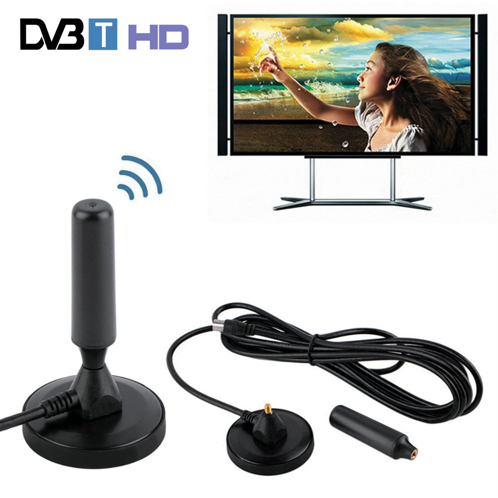 30 dBi Gain 75 ohm Digital DVB-T Receiver Antenna FM Freeview Aerial Antena DVB T Coaxial Booster Cable Magnetic Base TV HDTV