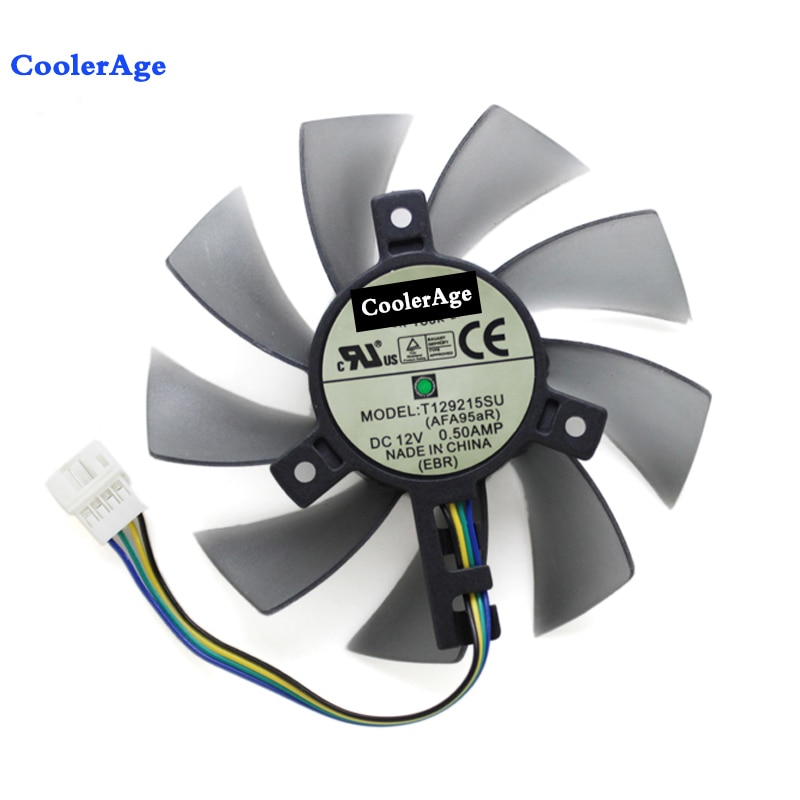 85 мм T129215SU вентилятор охлаждения для Gigabyte GeForce GTX 1050Ti GTX1060 RX 480 470 570 580 GTX 1060 G1 кулер для видеокарты
