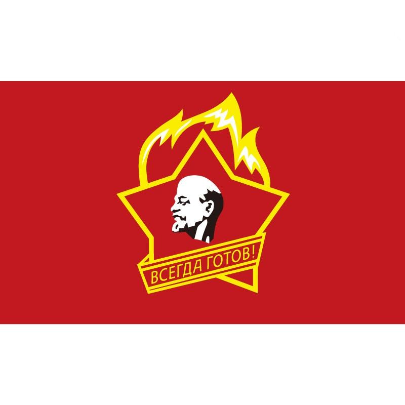 90*150cm/60*90cm/40*60cm/15*21cm Soviet Pioneers USSR Flag 3X5FT Banner Brass Metal Holes CCCP Flags