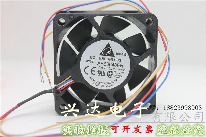 Nova AFB0648EH 6025 48V0. 21A quatro-wire velocidade PWM ventilador de refrigeração