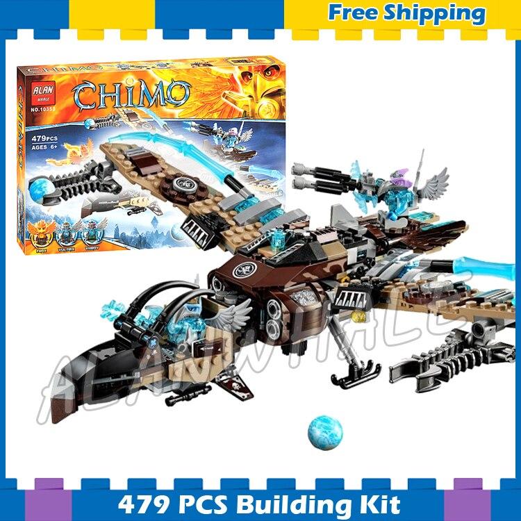479 Uds Vultrixs Sky Scavenger Battle Fighter Phoenix Flame Flyer 10353 modelo bloques de construcción regalos conjuntos compatibles con Lago