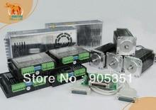 Cheap CNC! Wantai 4 Axis Nema 23 Stepper Motor WT57STH115-4204A, 428oz-in+Driver DQ542MA 4.2A+Power CNC Router Plasma Embroidery