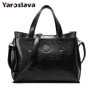 2020 Ladies Handbags Famous Brand Messenger bag Women Fashion Black Leather Shoulder Bag Women High Quality Big Bags Purse LL538