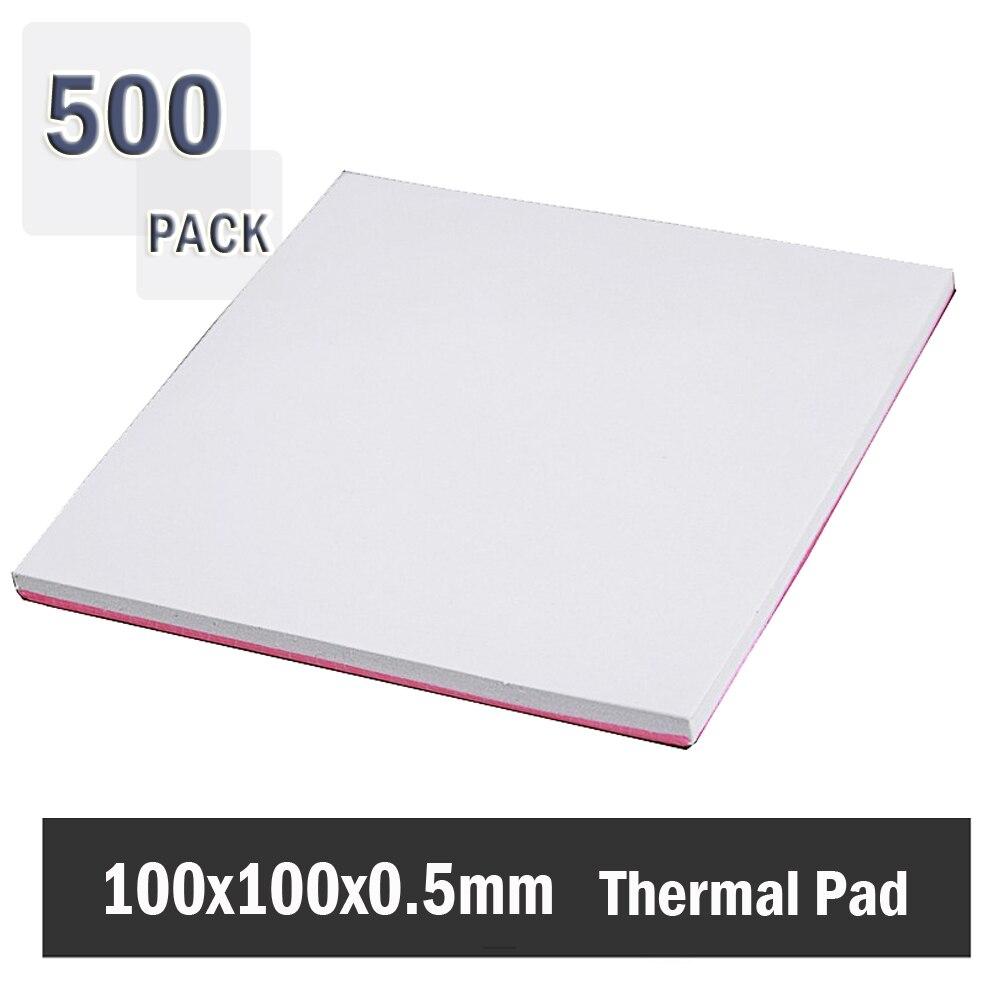 500 قطعة Gdstime 0.5 مللي متر 100 مللي متر x 100 مللي متر x 0.5 مللي متر سمك كفاءة عالية الحرارية الموصلية الأصلي أصيلة القطب الشمالي لوحة حرارية