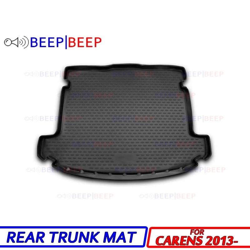 Para Kia Carens 2013-forro para maletero de coche, tapete de carga, bandeja, suelo, alfombra, maletero, alfombrilla trasera, equipaje, estilismo para coche