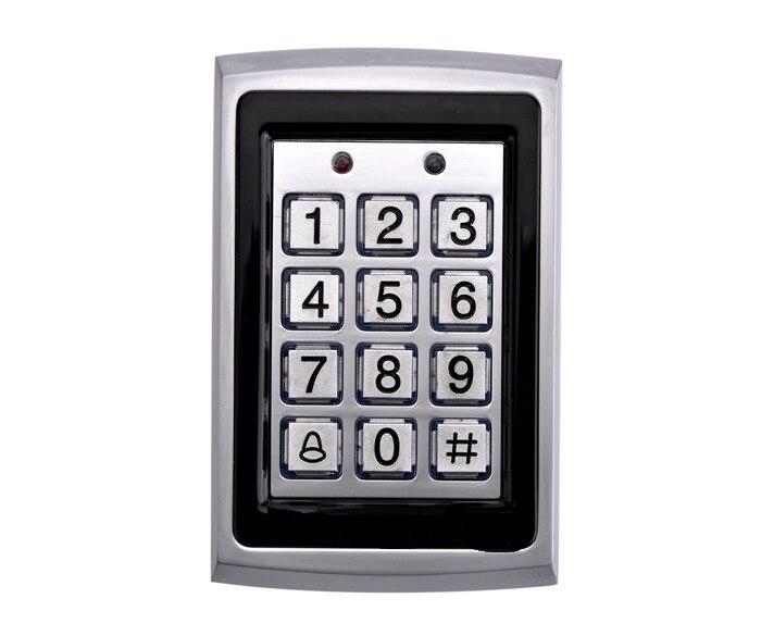 RFID tarjeta Metal funda teclado 125khz tarjeta de proximidad entrada cerradura puerta Control sistema impermeable 1000 usuarios