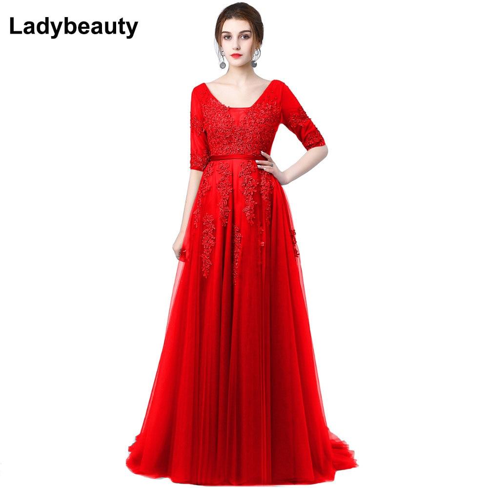 فستان سهرة طويل مثير عاري الظهر من فيستدو, فستان سهرة نسائي طويل مطرز بالخرز بتصميم على شكل حرف a ، ذو أكمام نصف كم ، مناسب لحفلات التخرج
