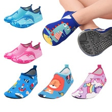 Unicorn Kids Slippers Pantufa Infantil Water Shoes Kids Quick Drying Swim Footwear Barefoot Aqua Soc