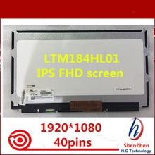 "Original 18.4 ""FHD LTM184HL01 C01 IPS 40pins Für DELL Alienware M18X R1 R2 0XJY7J XJY7J 1920*1080 glänzend"