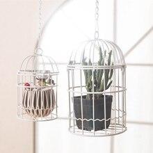 European cage, wrought iron flower pot flower pendant window decoration items furnishing articles  birdcage decorative