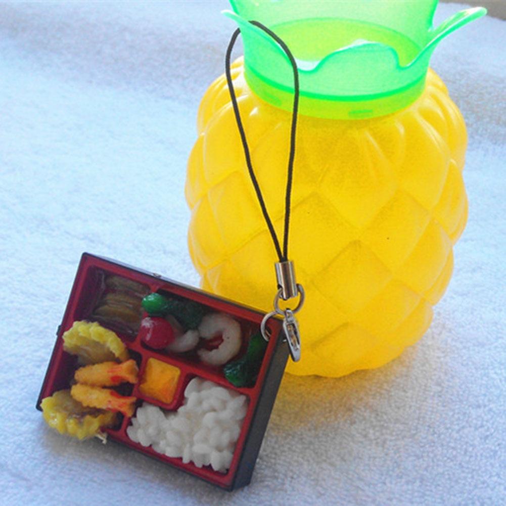 LLavero de novedad de 1 pieza, bonito llavero japonés de Sushi de simulación de comida, llavero de joyería para llavero de mujer