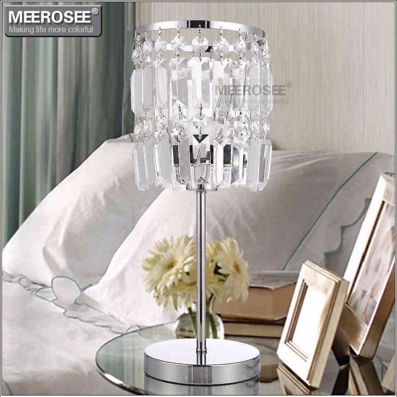 Moderne Cristal Table lumière Lustres Cristal lampe de lecture pour salon chambre éclairage Cristal bureau chevet abajur para quarto