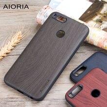 Holz design fall für Xiaomi mi a1 mi 5x weiche TPU silikon material mit PC mit holz PU leder haut abdeckungen coque fundas