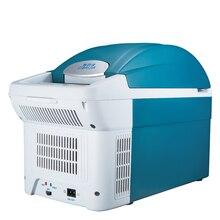 8.5L Auto Mini Refrigerator Car Home Daul-Use Portable Fridge Icebox Freezer Cooler Heater Rapid Refrigeration High Capacity