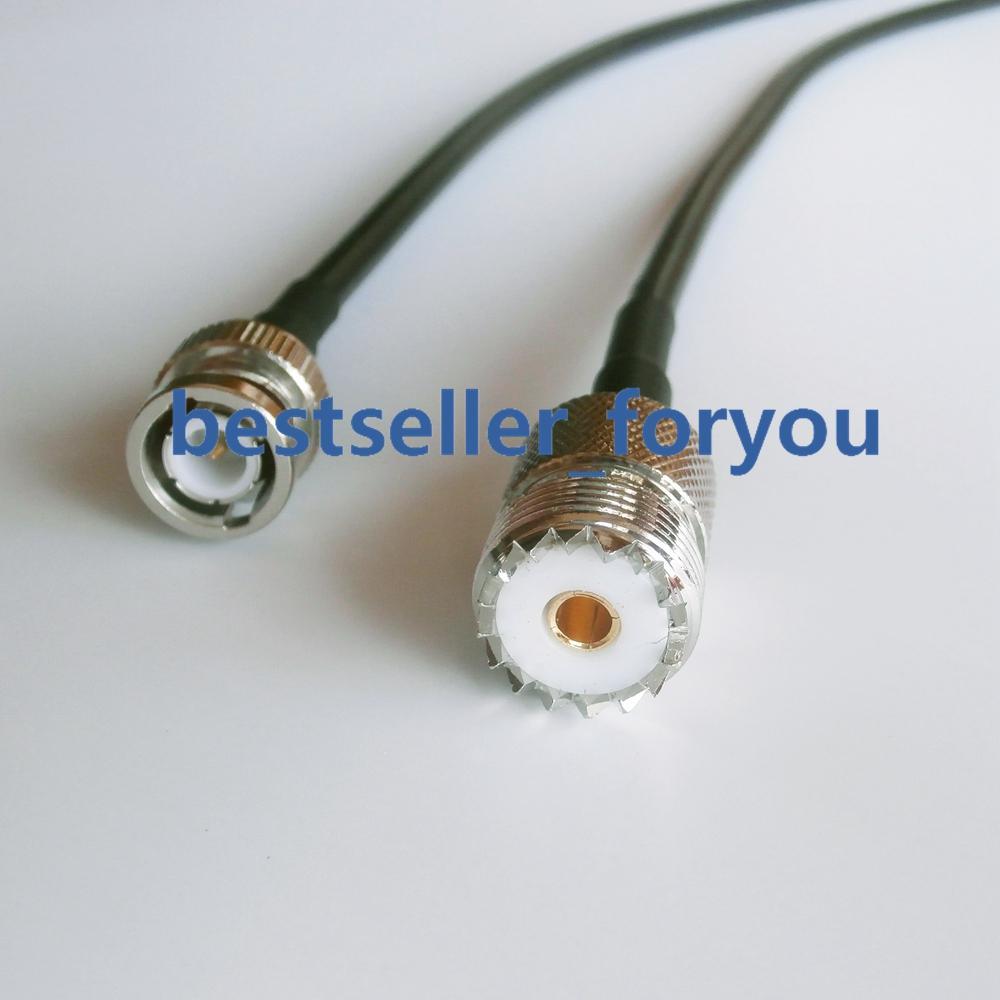 200cm Cable RG58 SO239 UHF hembra a BNC macho Crimp Coax Pigtail...