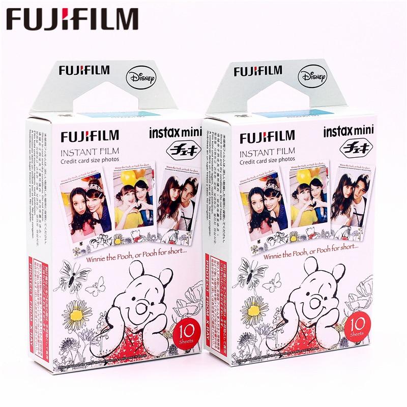 Fujifilm, 20 hojas, Instax Mini, Winnie pooh, oso de miel, película instantánea de papel fotográfico para Instax Mini 8 7s 25 50s 90 9 SP-1 CÁMARA DE SP-2