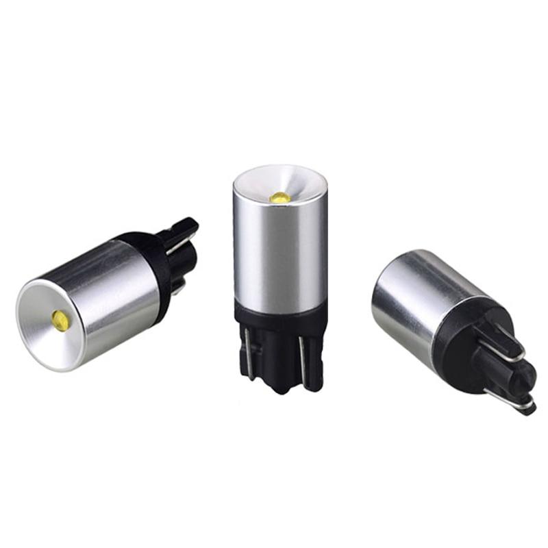 LM 6 uds T10 194 W5W CREE Chip Led blanco proyector carcasa de aluminio bombillas DRL Interior de la luz de la fuente inversa del coche