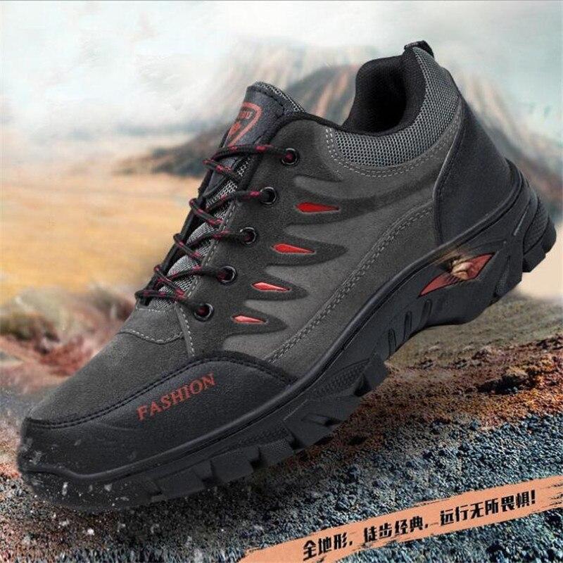 Zapatillas de cuero para hombre, para exteriores, calzado masculino, calzado informal antideslizante para adultos, calzado militar de otoño, calzado resistente