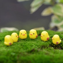5 pièces Adorable mouton poulet dauphin Micro Landscope fée jardin Figurines Miniatures décoration