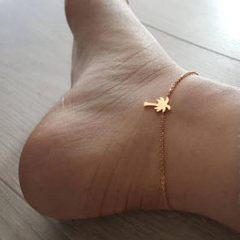 2017 מסיבת החוף הוואי פאלם תכשיטים לשרשרת רגל נשים קסם צמיד עץ צמידי רגל Anklets היחף סנדל קיץ פילטרים