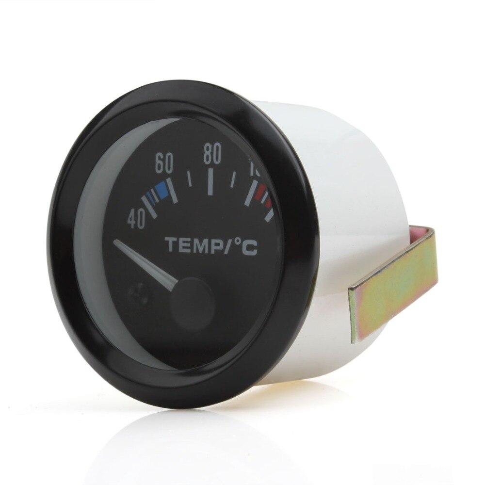 5pcs 2 Inch 12V Universal High Sensitivity Car Pointer Water Temperature Temp Gauge 40 - 120 White LED