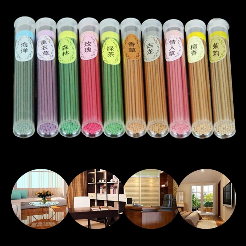 50 Sticks Incense Burner Fragrance Spices Natural Aroma Sandalwood Air Freshener