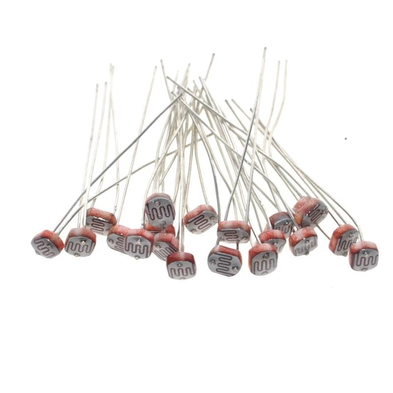 20 stücke x 5528 Licht Dependent Resistor LDR 5mm Fotowiderstand großhandel und einzelhandel Photoconductive widerstand für arduino
