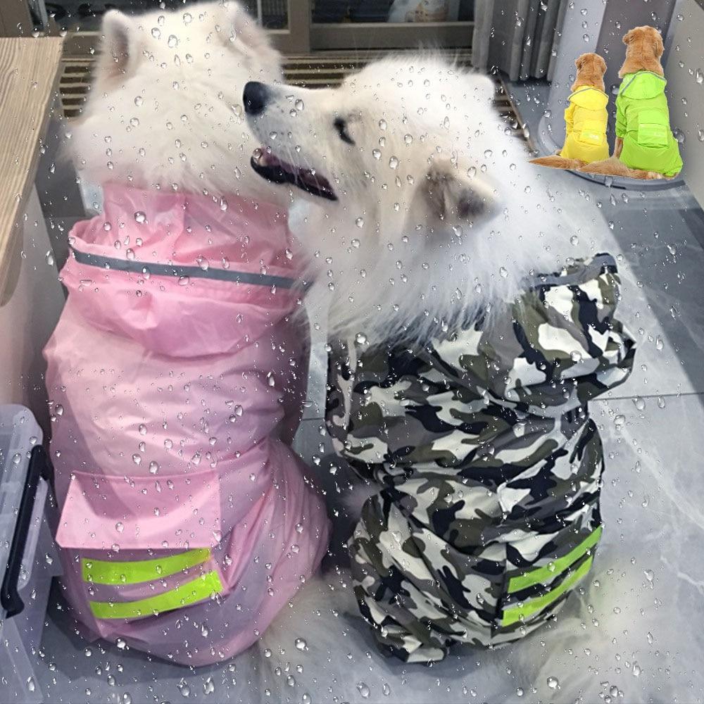 Šunų lietpalčio kombinezonas šunims naminiams gyvūnėliams, - Naminių gyvūnėlių produktai - Nuotrauka 3