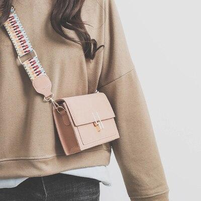 Casual Retro Matte Patchwork Crossbody Bags for Women Messenger Bags Chain Strap Shoulder Bag Lady Small Flap criss-cross Bag