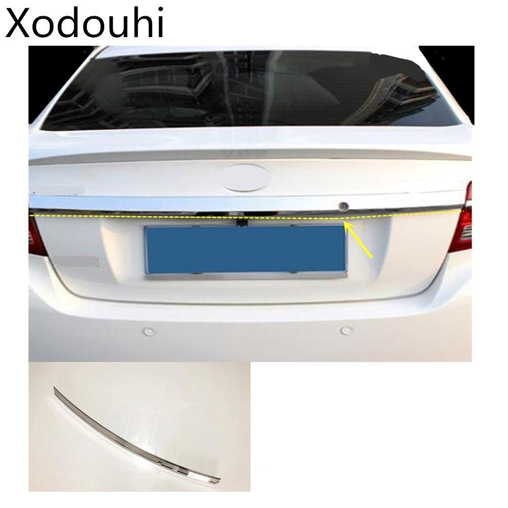 Car Styling Rear Door License Tailgate Bumper Frame Plate Trim Trunk Hood 1pcs For Toyota Vios/Yaris Sedan 2017 2018 2019