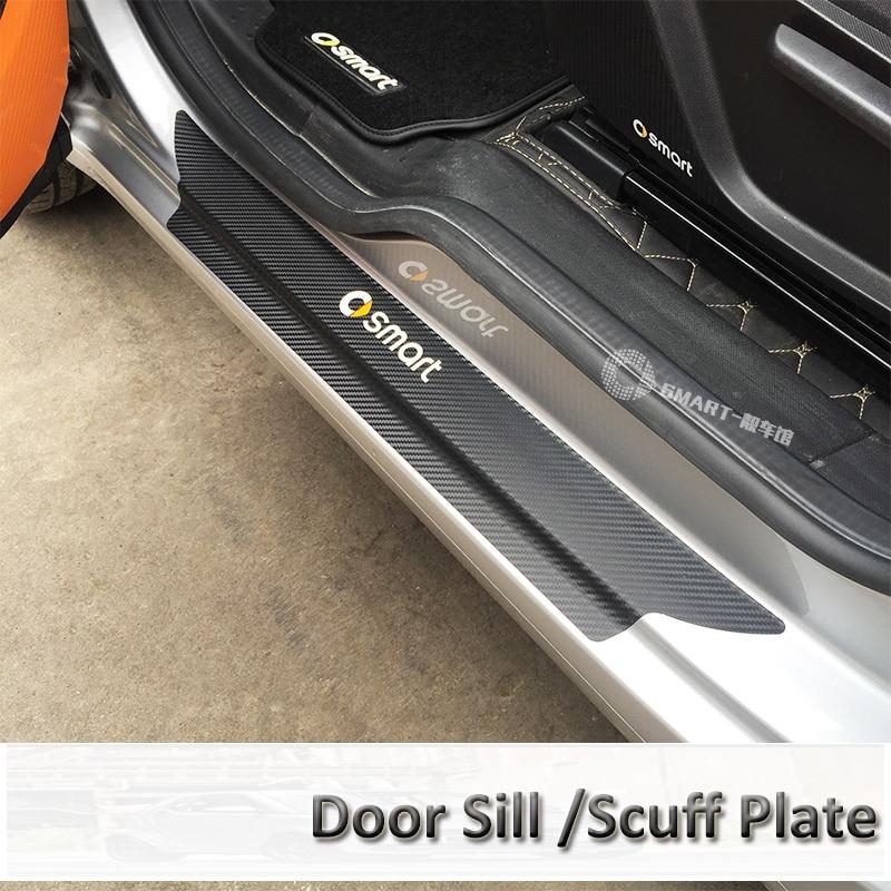 Умные аксессуары, Накладка на порог, защита для дверей из углеродного волокна, протектор для Smart fortwo 453 smart 453 forfour