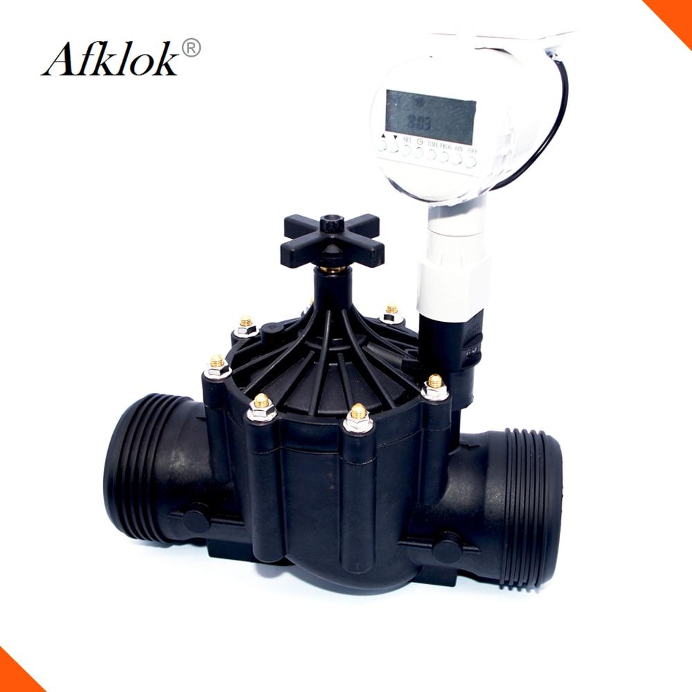 Irrigación de agua de jardín válvula solenoide de 3 pulgadas de agua 12v con temporizador de Control