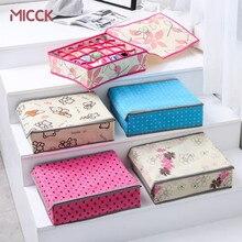 MICCK-organisateur ménager à 24 cases, pour boîte de rangement lingerie tiroirs, armoires, ceintures, chaussettes, cravate, boîtes avec couvercle