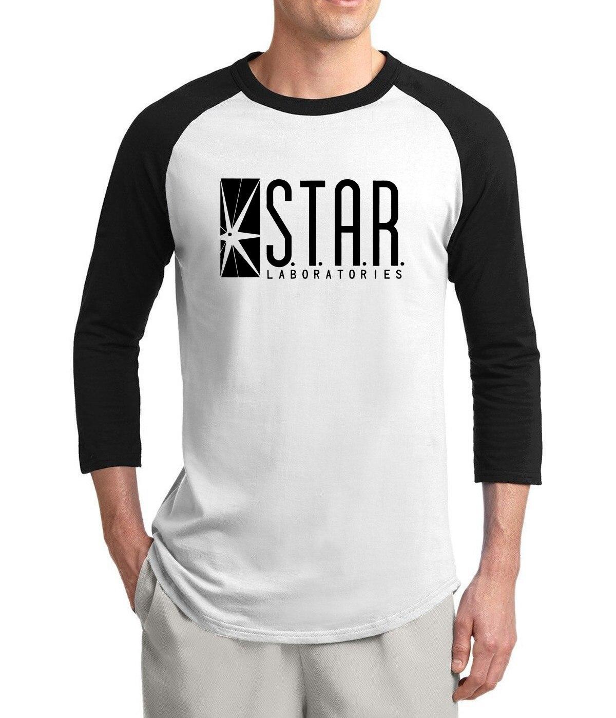 2019 verano gran oferta de camiseta para hombre STAR S. t. A. R. labs camisetas de manga de tres cuartos de algodón de moda para hombres
