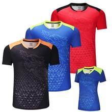 Nouvelle chine Dragon tennis de table chemises hommes, chemises de ping-pong, maillots de tennis de table chinois, vêtements de tennis de table chemises de sport