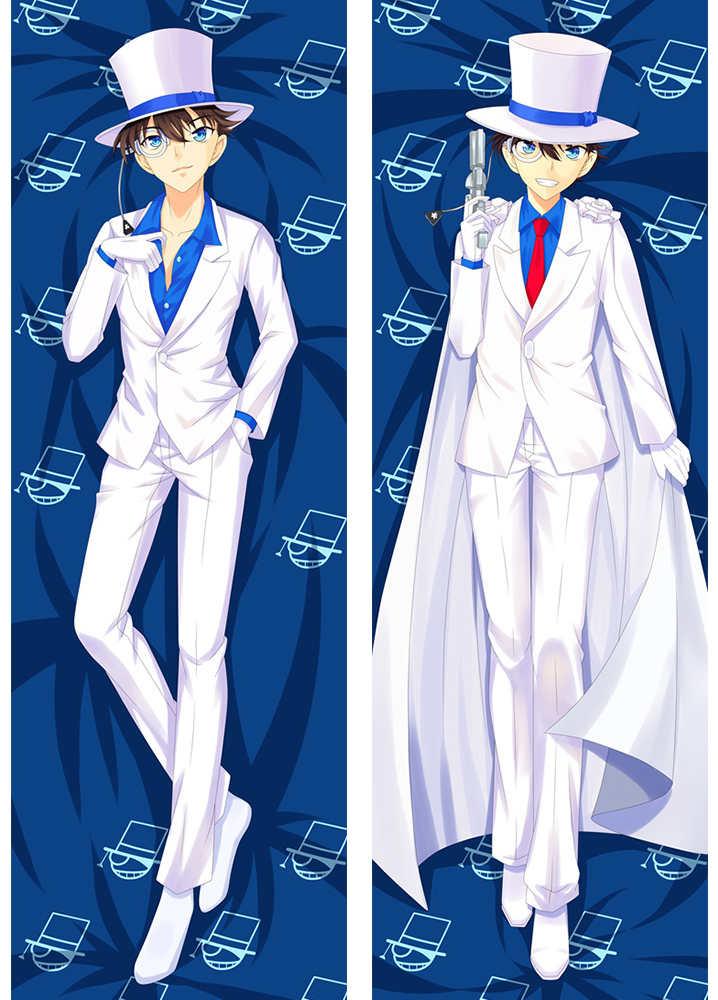 Anime de detective conan de almohada con personajes de niño con estilo kaitou, chico, de cojín Funda, cerrada, Meitantei, Conan