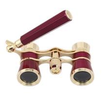 Gafas Binocular 3X25 de Carreras de Caballos de teatro de ópera telescopio con Mango/Kit de accesorios telescopio elegante de moda para mujeres bien vendido
