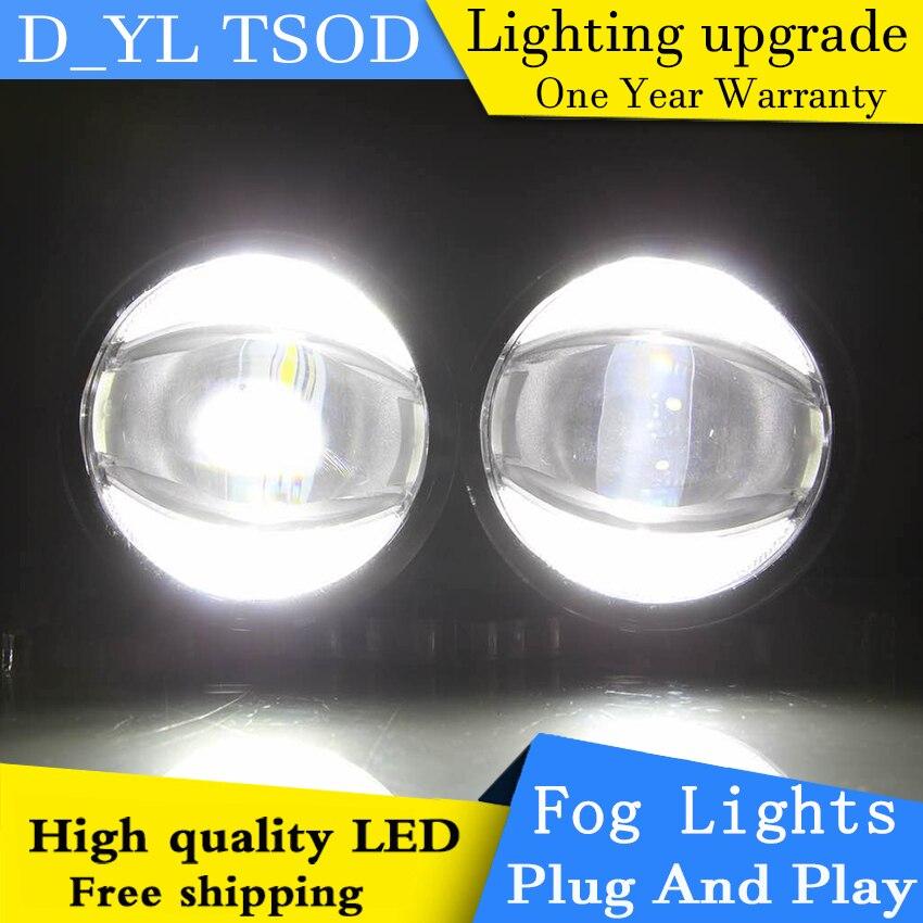 Car Styling Daytime Running Light for Citroen C4 PICASSO Fog Light Auto Angel Eye Fog Lamp LED DRL High&Low Beam Fast Shipping